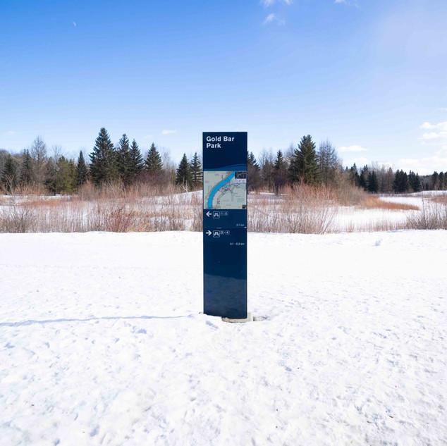 Edmonton River Valley Signage