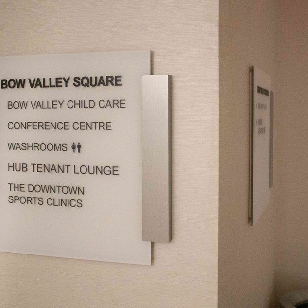 Bow Valley Square - Wayfinding Signs