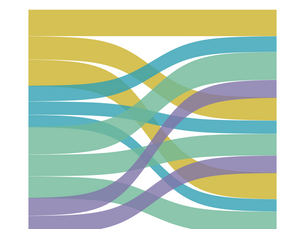 SANKEY DIAGRAM with self-union