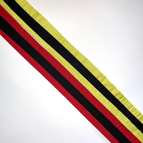 Black Striped Belts