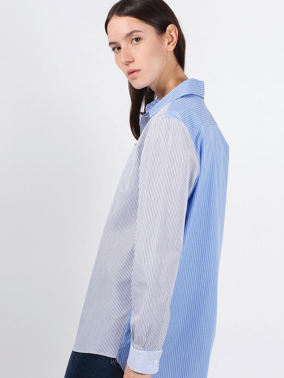 Bluse Streifen Blau Amorph