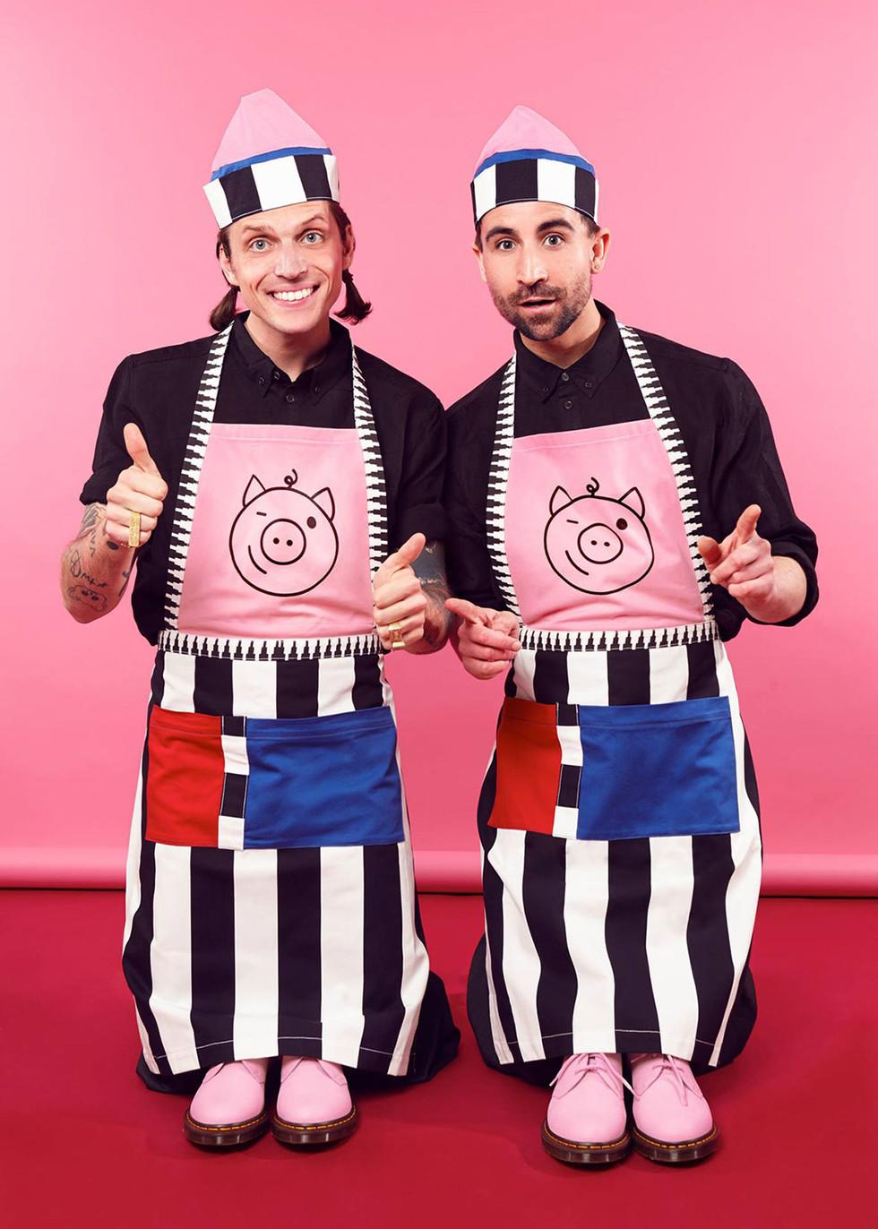 Dandy Diner Schwein Schürze