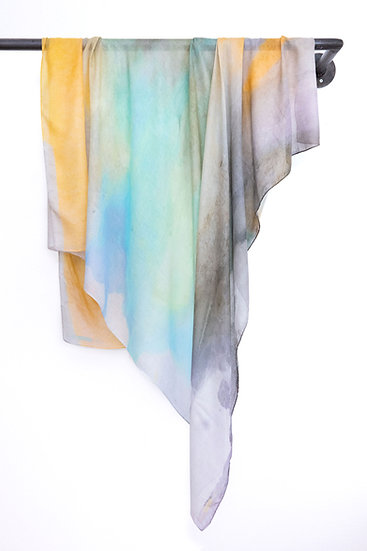 Modal Cashmere Scarf with Watercolour print #06