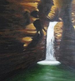 David's Waterfall in the Negev Desert