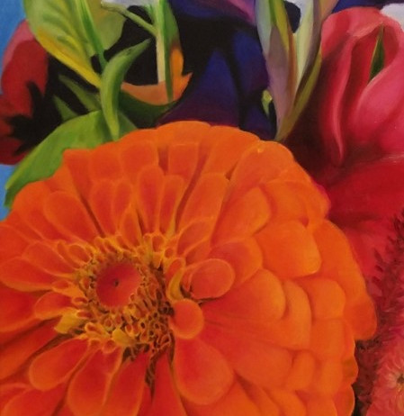 Orange Zinnia Bouquet