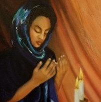 Sarah Lighting the Sabbath Candles