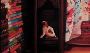 Curious Cat in a Carpet Shop