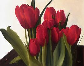Tulips and Ladybugs
