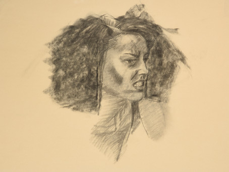 Head Study for Fearsome and Fearless