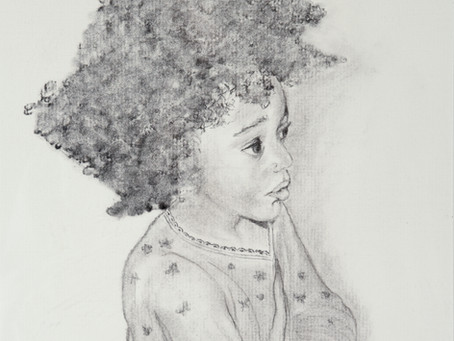 Portrait of a Young Girl - Charcoal