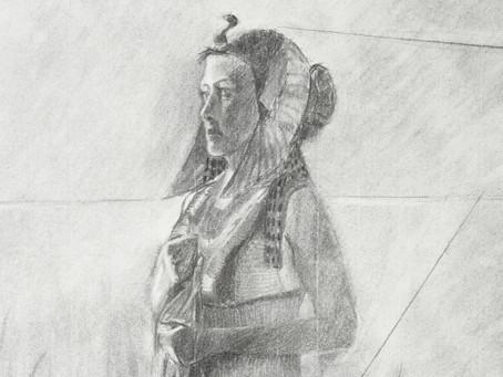 Egyptian Princess - Charcoal
