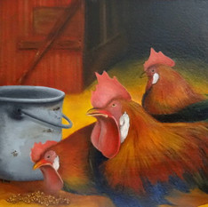 Rooster in Three Moods