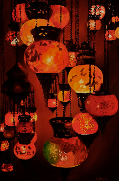 Globes of Light Giclee Canvas