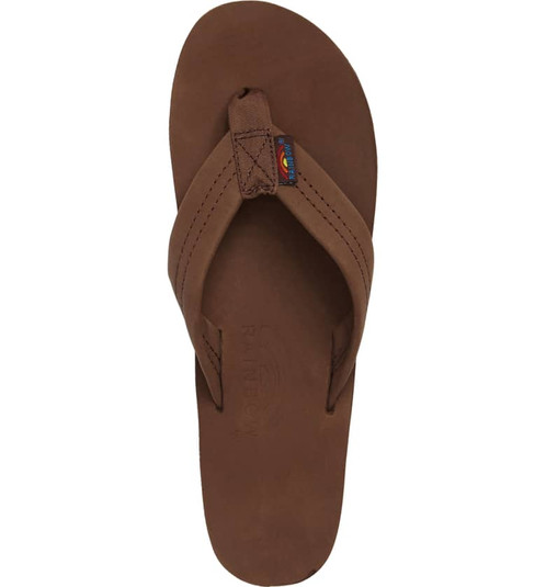 a1dfce81b30b Rainbow Sandals Men s Expresso Leather Single Layer Flip Flops