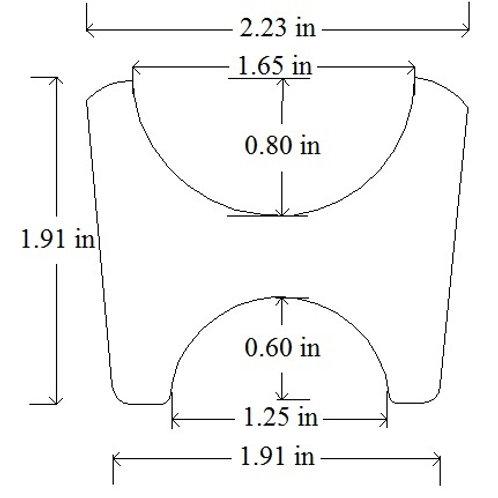 "Weld On Frame Tab Bracket 3/16"" Mild Steel Chassis Tab #2"
