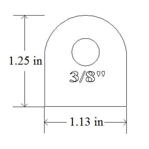 "Weld On Frame Tab Bracket 3/16"" Mild Steel Chassis Tab #20"