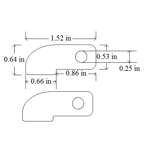 Weld On Frame Tab Bracket Mild Steel Chassis Tab-12 - Includes Nut & Bolt