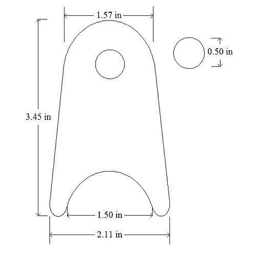 "Weld On Frame Tab Bracket 3/16"" Mild Steel Chassis Tab-8"