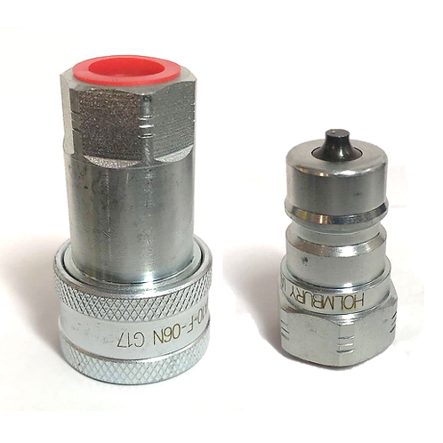 """3/8"""" NPT ISO 7241-B Quick Disconnect Hydraulic Coupler Set"""