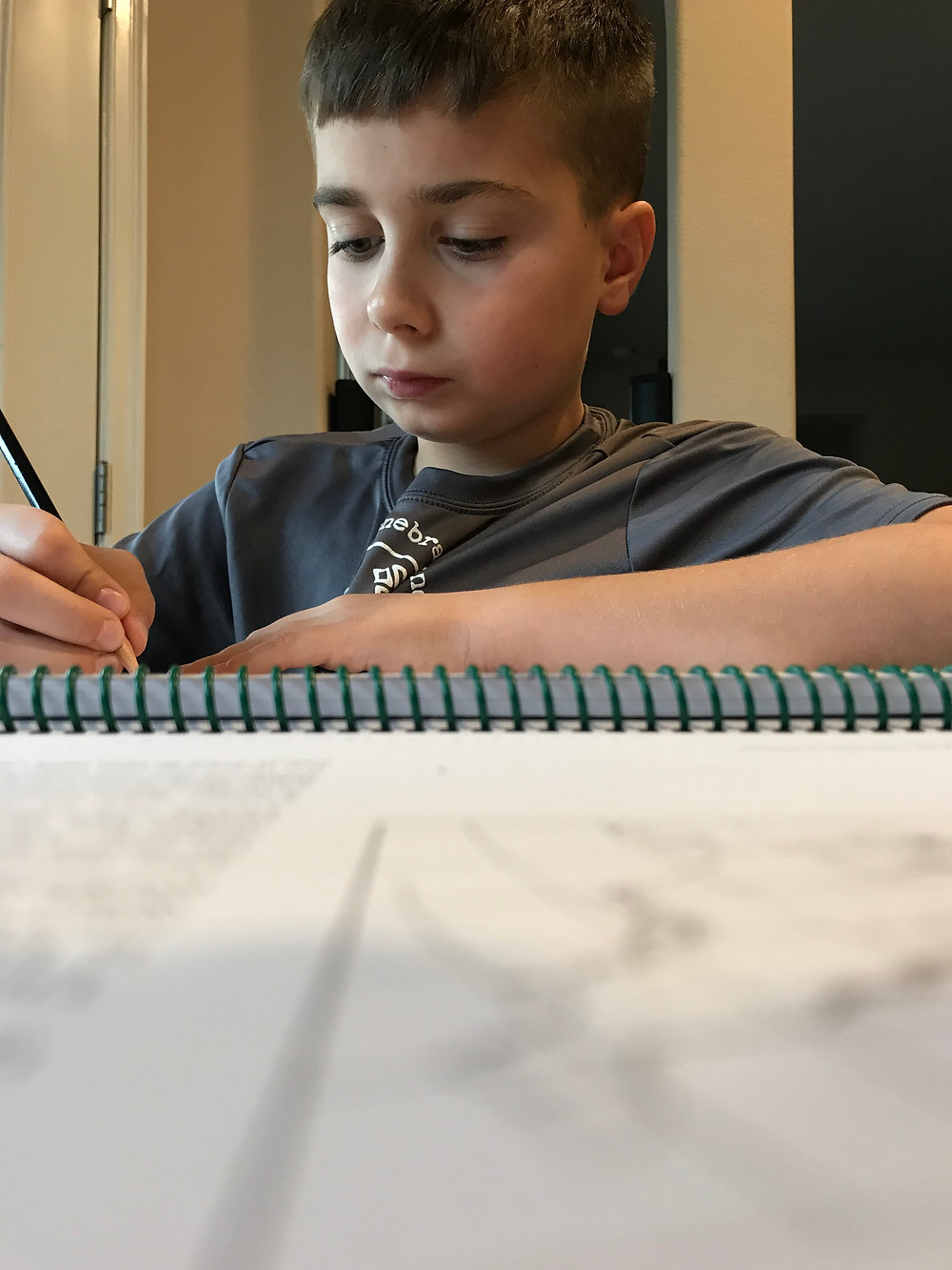 Map drawing and cursive practice
