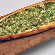 Closed Pide with cheese and spinach