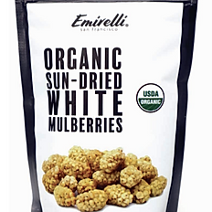 Organic Sun-dried White Mulberries 7.05 OZ