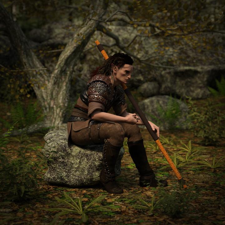 Elf in the woods