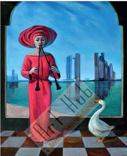THE RED LADY AND THE DUCK