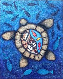 Turtle Blue Sea