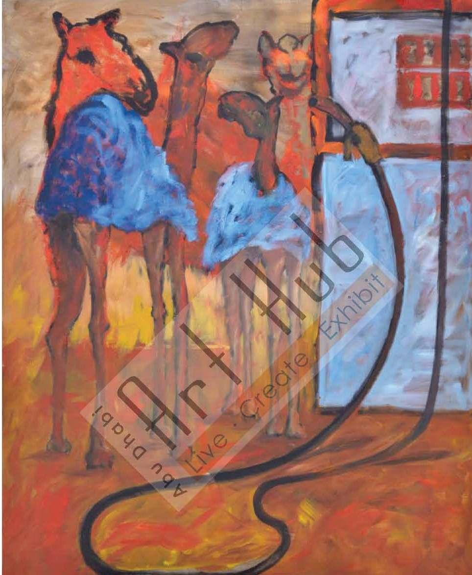 CAMEL IN PETROL STATION