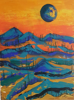Blue Moon in the Desert