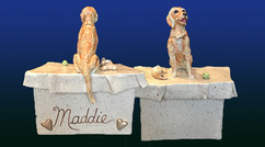 Custom Golden Retriever Keepsake.Maddie