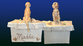 Custom Golden Retriever Keepsake.Maddie
