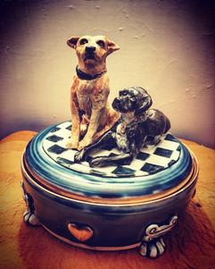Custom Dog Keepsake ceramic 2 dogs