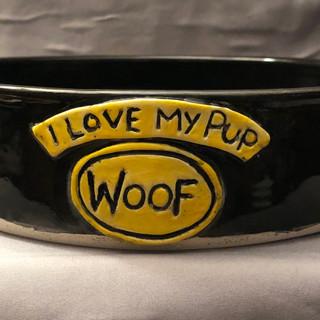 Custom Dog Bowl for Lucky