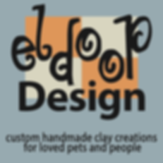 Custom Handmade Ceramic Pet Sculpture Eldoop Design Logo