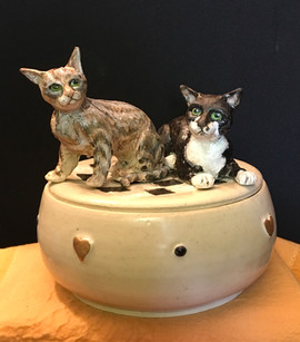 custom ceramic cat keepsake