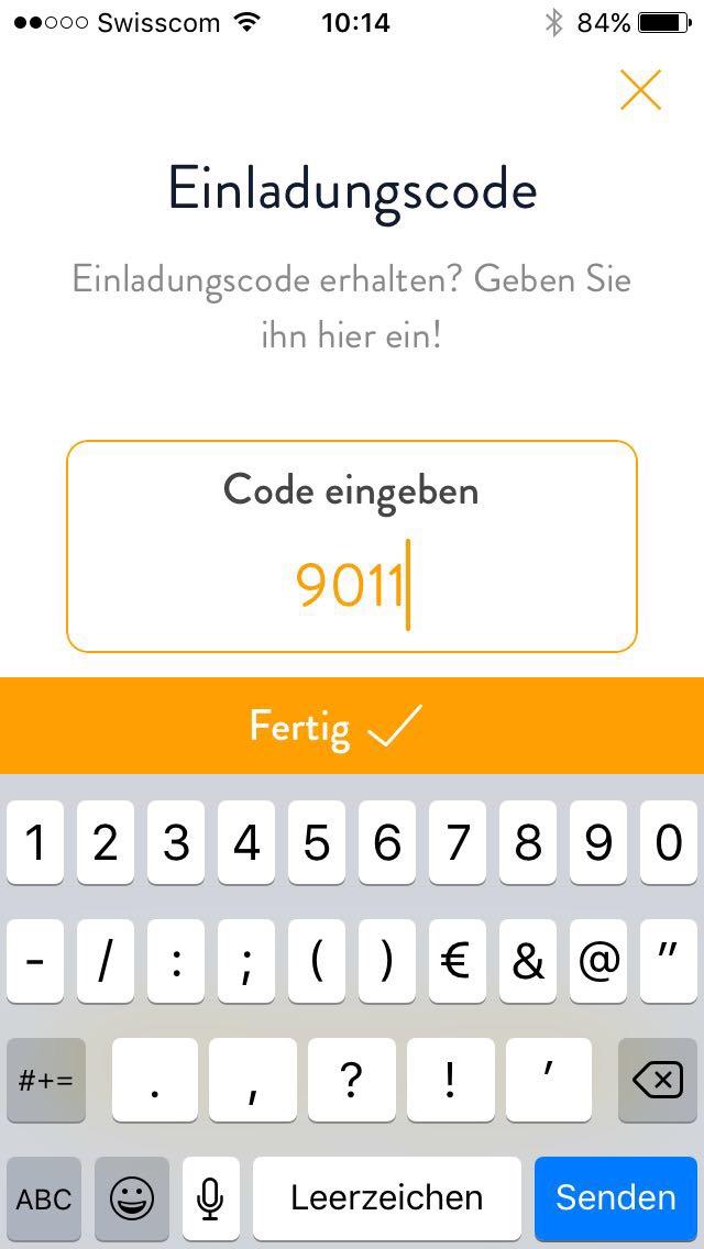 3 Code eingeben