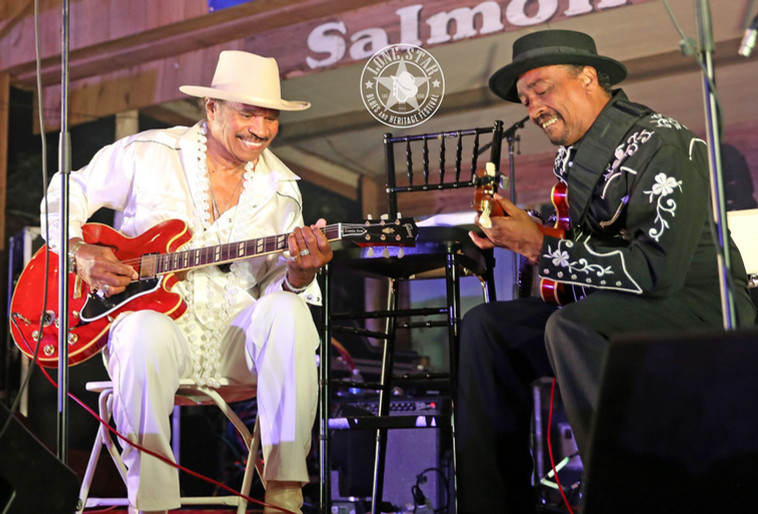 """An incredibly special moment during his Saturday night performance when Benny played, for the first time, with younger brother Donald.  They, of course, played big brother Freddie King's song, """"Hideaway"""" !"""