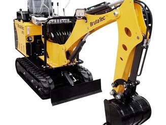 Mini Escavadeira BrutaTec: Compacta, útil, ágil e prática