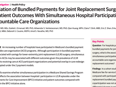 "What Happens When Hospitals ""Co-participate"" in Multiple Value-Based Payment Models At the Same Tim?"
