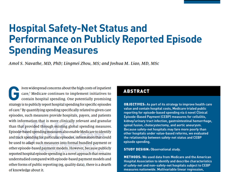 How Do Safety-Net Hospitals Perform on Episode Spending Measures?