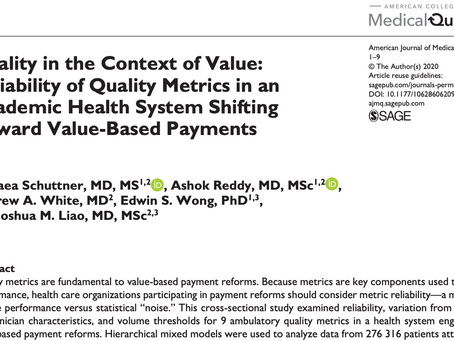 The Reliability of Quality Metrics in the Time of Value-Based Payment