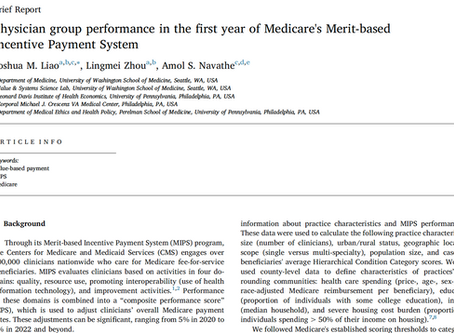 How Did Group Practices Perform in the First Year of Medicare's MIPS program?