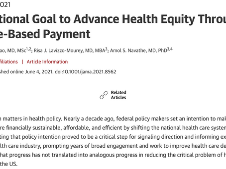Setting a National Goal to Pay-for-Equity