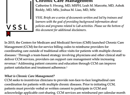 Issue Brief: Chronic Care Management (CCM) Services