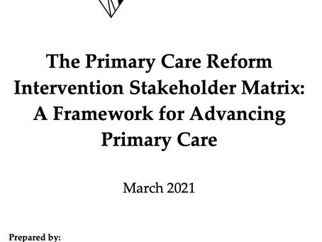 New White Paper: Framework for Primary Care Reform