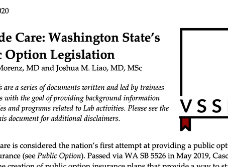 What's a Public Option Insurance Plan? An example from Washington State