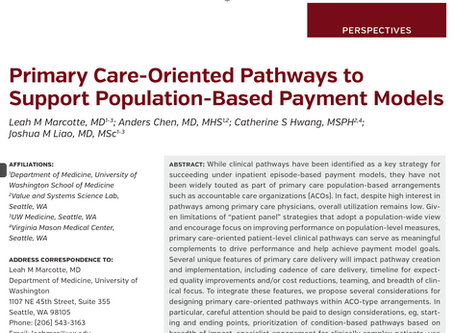 Publication: Pathways to Support Population-Based Payment Models
