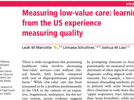 The Shift Towards Measuring Low-Value Care: What Can We Learn from Decades Measuring Quality?